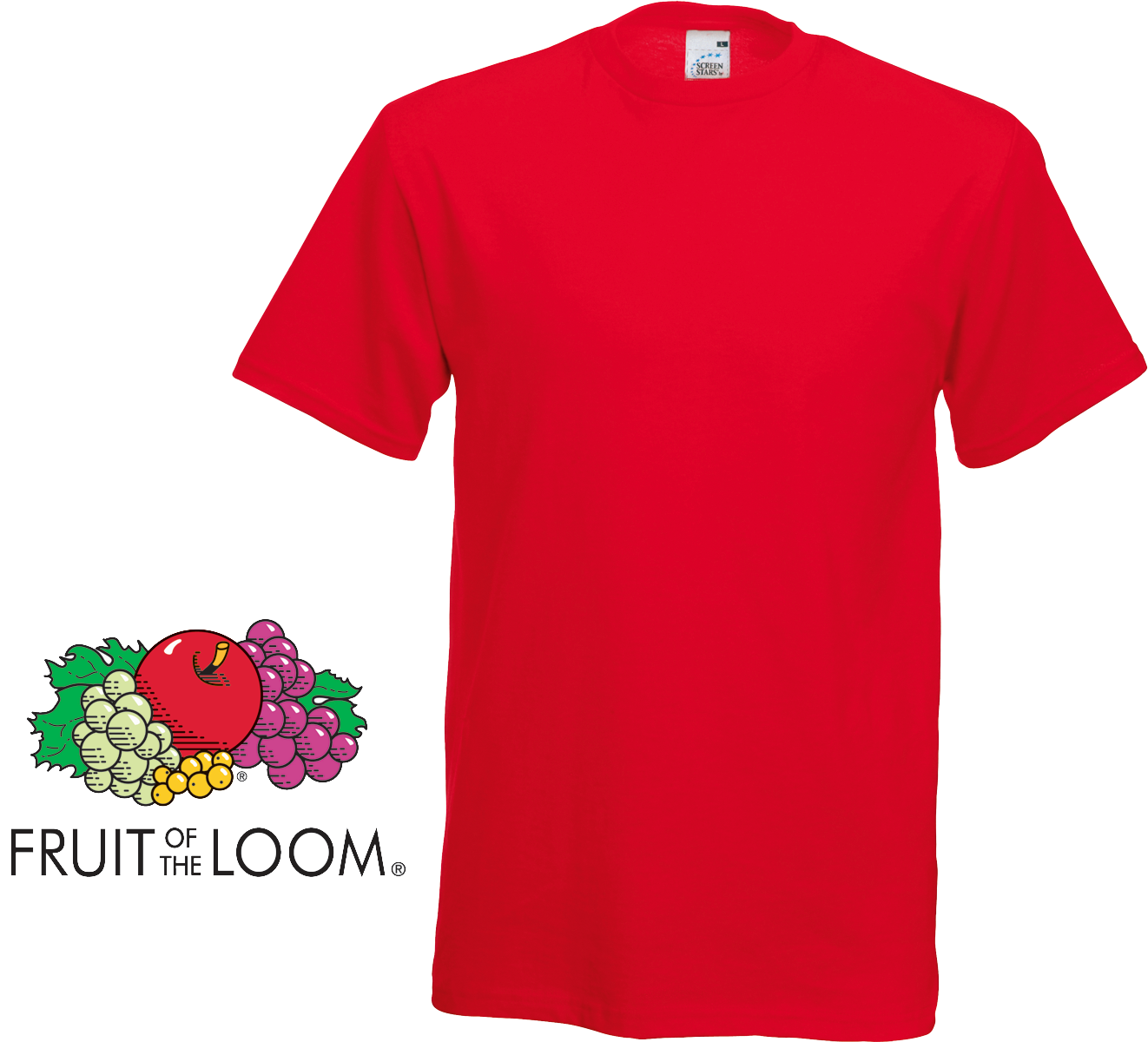 fruit of the loom screen stars classic t shirt red. Black Bedroom Furniture Sets. Home Design Ideas