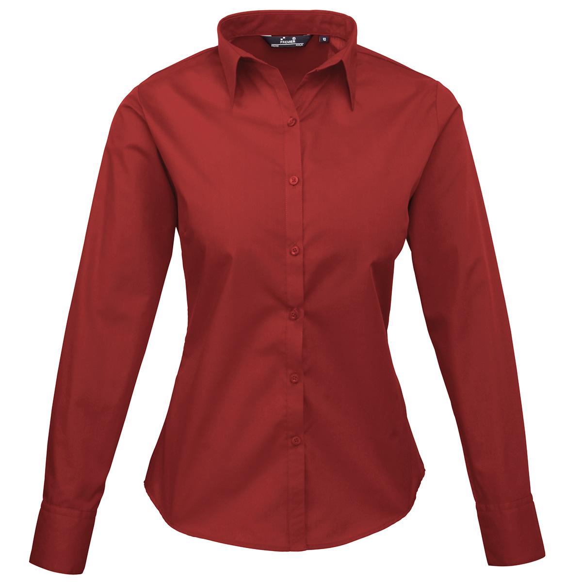 Burgundy Long Sleeve Blouse 31