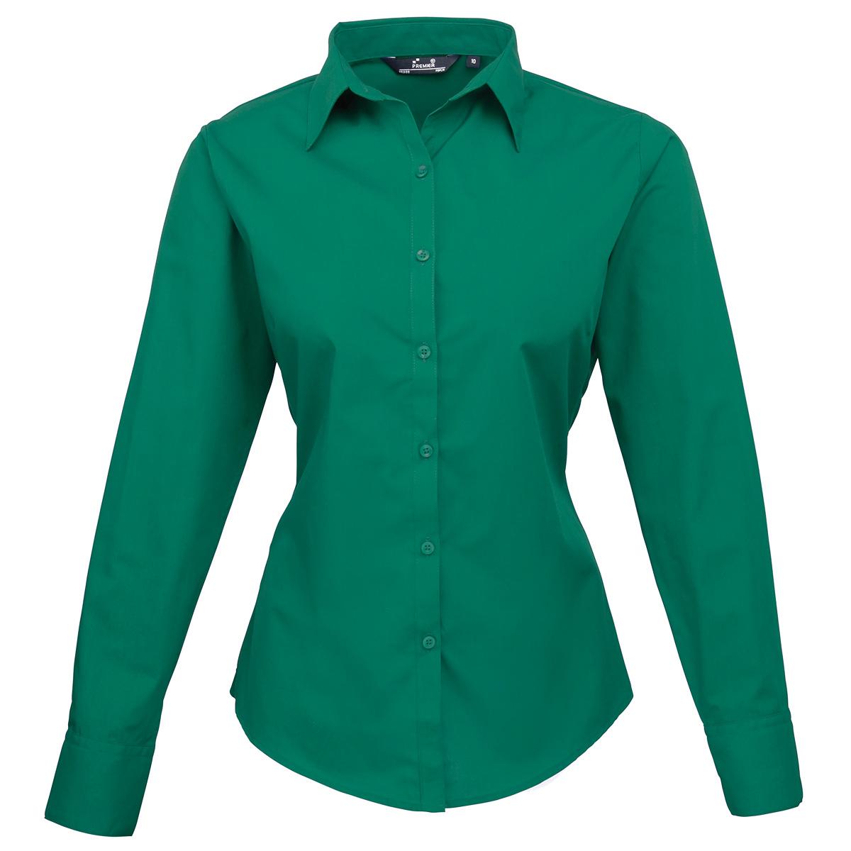 Womens Emerald Green Blouse 71