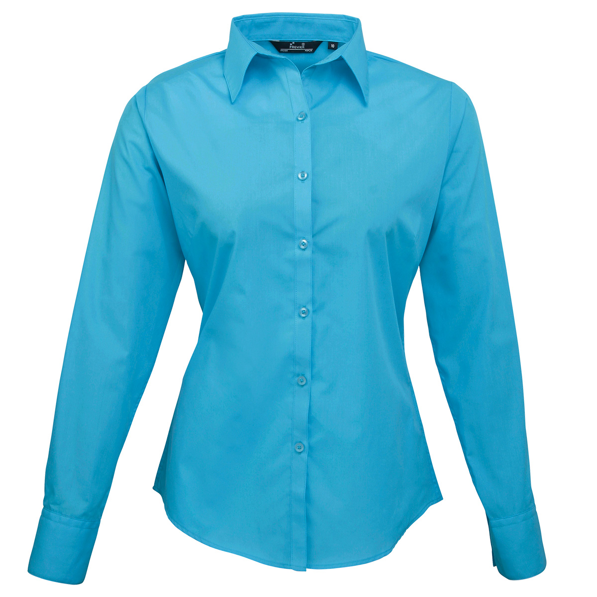 Innovative Women39s Poplin Long Sleeve Blouse  Light Blue  Chogou