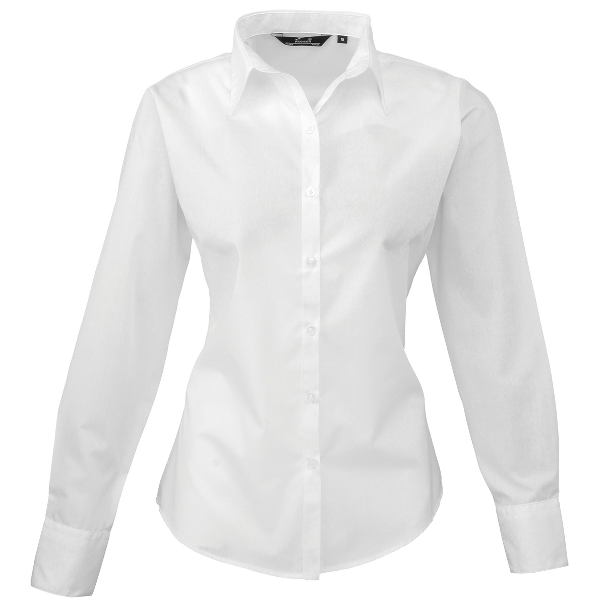 Women White Blouses - Long Sleeved Blouse